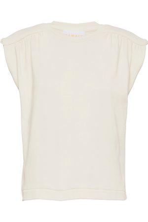 REMAIN Birger Christensen Verona Ns O-Neck T-shirts & Tops Sleeveless Creme