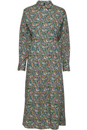 YAS Dame Hverdagskjoler - Rikke Long Shirt Dress - Df Knelang Kjole Hvit