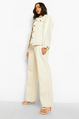 Boohoo Straight Leg Jeans With Contrast Stitch
