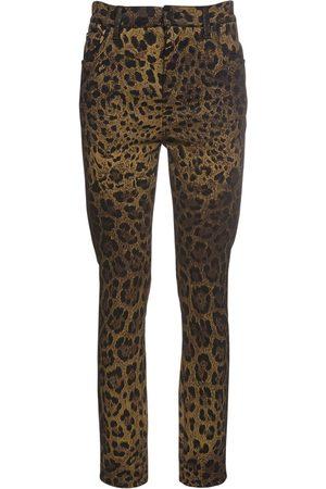 Dolce & Gabbana Leopard Print Denim Jeans