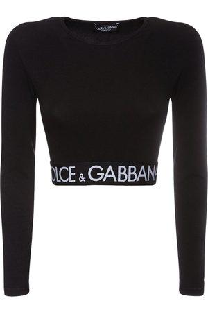 Dolce & Gabbana Logo Cotton Jersey Cropped T-shirt