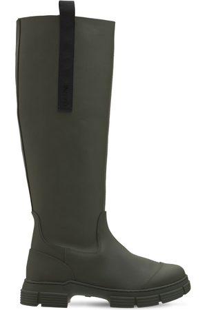 Ganni Dame Gummistøvler - 45mm Tall Rubber Rain Boots