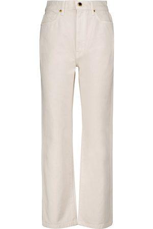 Khaite Abigail high-rise straight cropped jeans