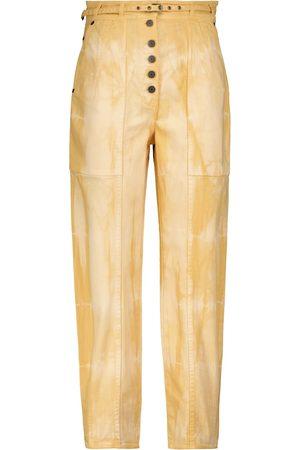 ULLA JOHNSON Apollo tapered-fit tie-dye jeans