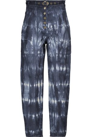 ULLA JOHNSON Dame High waist - Apollo tapered-fit tie-dye jeans
