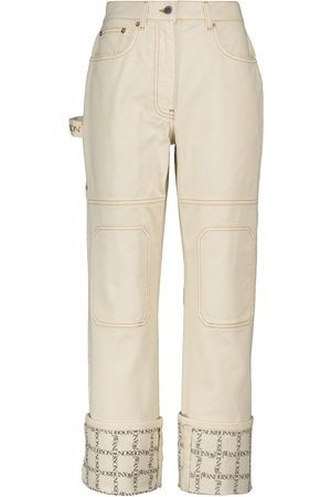 J.W.Anderson Mid-rise cotton straight jeans