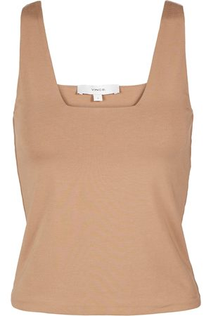 Vince Square-neck stretch tank top