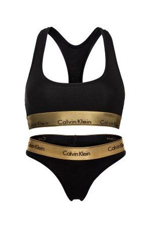 Calvin Klein Dame Lingerie - Modern Cotton Metallic Set
