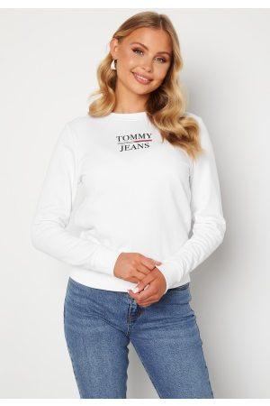 Tommy Hilfiger Dame Sweatshirts - Slim Terry Sweatshirt YBR White XL