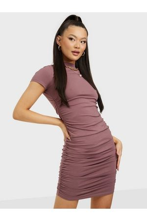 NLY Rouched Side Dress Brown