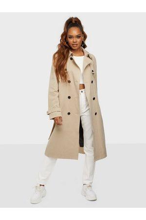 Calvin Klein Dame Trenchcoats - Cotton Tencel Trench Coat