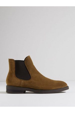 SELECTED Herre Chelsea boots - Slhblake Suede Chelsea Boot B Noos Chelsea boots Tobacco Brown