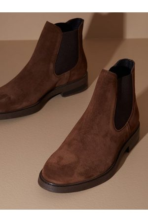 SELECTED Herre Chelsea boots - Slhblake Suede Chelsea Boot B Noos Chelsea boots Chocolate Brown