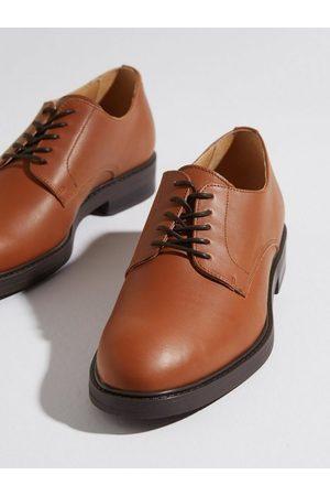 SELECTED Herre Pensko - Slhblake Leather Derby Shoe B Noos Dresset Cognac