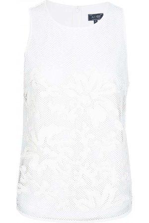 Armani Dame Singleter - Mesh Top White