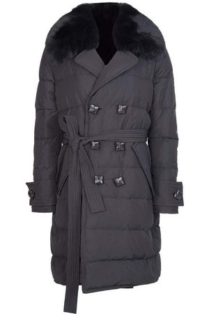 Dsquared2 Dame Trenchcoats - Fur Collar Trench Coat