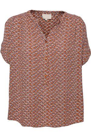 Minus Dame Kortermede - Delaila Top Blouses Short-sleeved Rosa