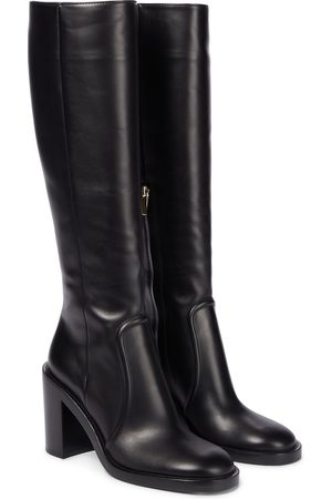 Gianvito Rossi Conner 85 leather knee-high boots