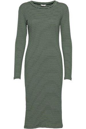 Mads Norgaard 2x2 Cotton Stripe Duba Dresses Everyday Dresses Grønn