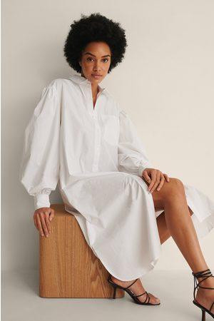 NA-KD Dame Hverdagskjoler - Økologisk Oversized Skjortekjole