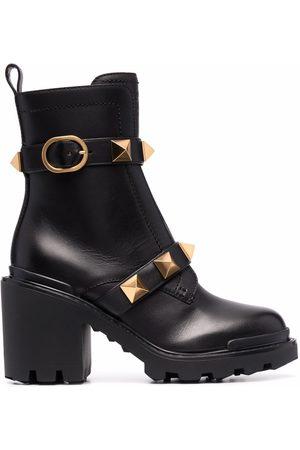 VALENTINO GARAVANI Dame Skoletter - Roman Stud buckled ankle boots