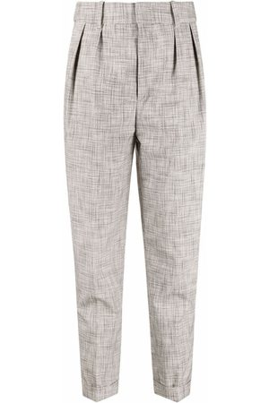 Isabel Marant Dame Chinos - Petra stitched abstract-pattern trousers