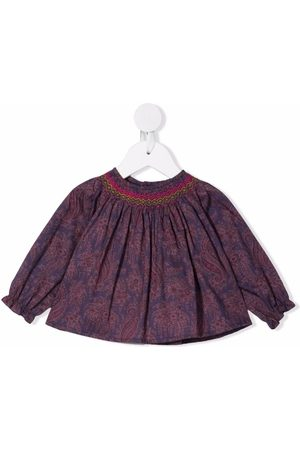 BONPOINT Baby Bluser - Griotte smocked blouse