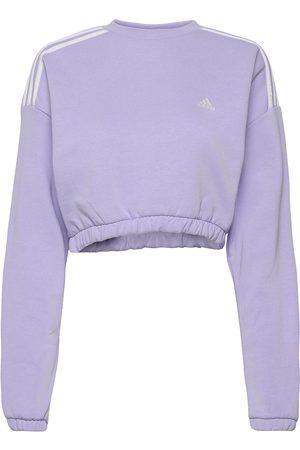 adidas Crop Crew Sweatshirt W Sweat-shirt Genser Blå