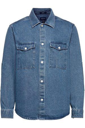GANT 18. D2. Reg Denim Shirt Town Skjorte Uformell