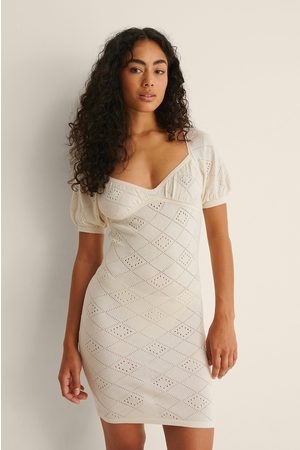 NA-KD Dame Strikkede kjoler - Strikket Minikjole