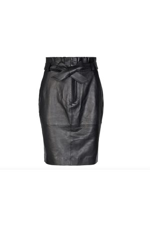 Co`Couture Sort Co`Couture Phoebe Leather Skirt Skjørt
