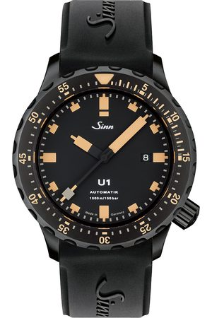 Sinn Herre Klokker - U1 Black Hard Coating Diving Watch 44mm Black/Ivory
