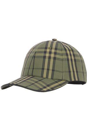 Burberry Herre Capser - Check-print canvas baseball cap