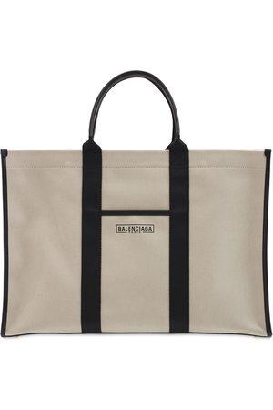 Balenciaga Herre Tote bags - Logo Cotton Canvas Tote Bag