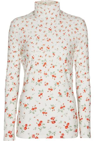 Paco rabanne Floral stretch-jersey top