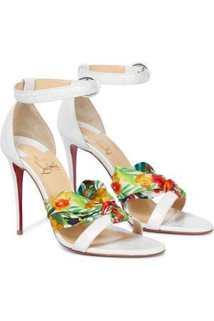 Christian Louboutin Ruban leather and silk sandals