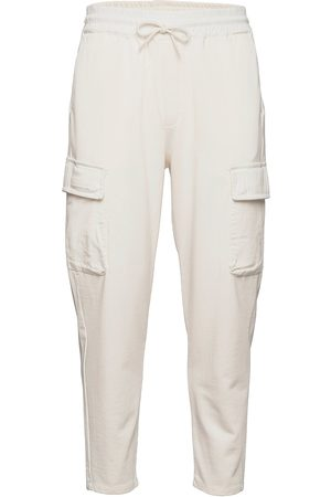 Scotch&Soda Organic Cotton Felpa Cargo Jogger Trousers Cargo Pants Creme
