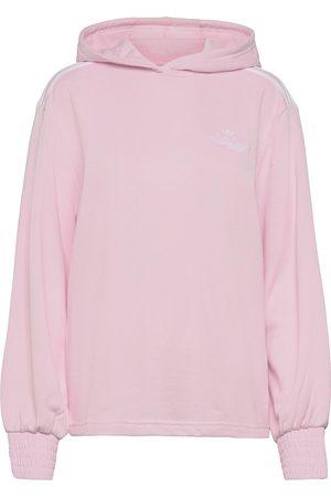 adidas Dame Sweatshirts - Smocked Cuff Hoodie W Sweat-shirt Genser Rosa