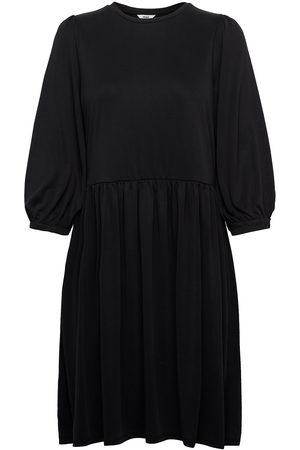 Object Dame Midikjoler - Objannie 3/4 Dress Knelang Kjole Brun