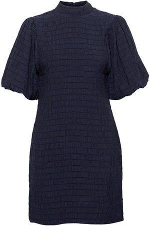 Scotch&Soda Mini Dress With Volumionous Sleeve Dresses Party Dresses Blå