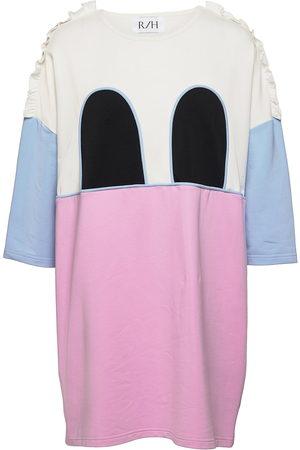 R/H Studio Mickey Ruffle Square Dress Dresses T-shirt Dresses Rosa