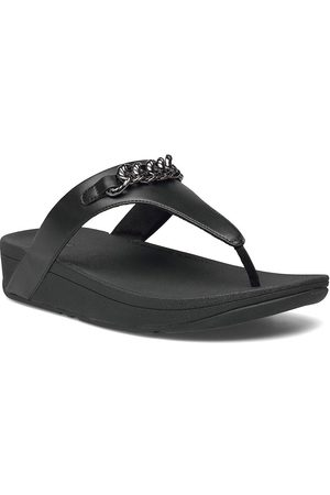 FitFlop Lottie Chain Toe-Thongs Shoes Summer Shoes Flat Sandals Rød