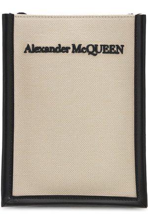 Alexander McQueen Logo Mini Canvas Crossbody Bag