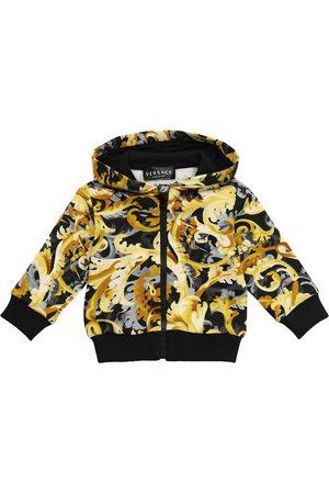 VERSACE Baby printed cotton zip-up hoodie