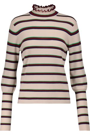 Chloé Striped wool mockneck sweater