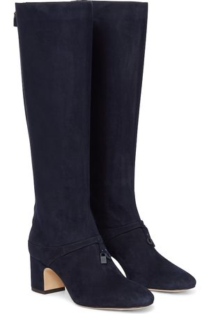 Loro Piana Maxi Charms suede knee-high boots