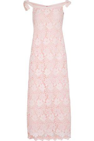 Giambattista Valli Dame Midikjoler - Boatneck lace dress