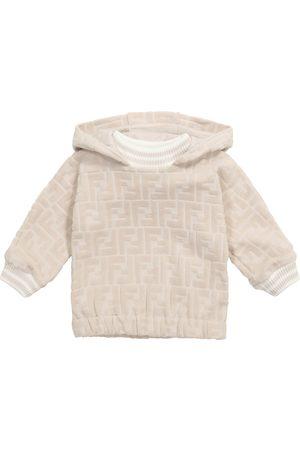 Fendi Baby FF cotton-blend chenille hoodie