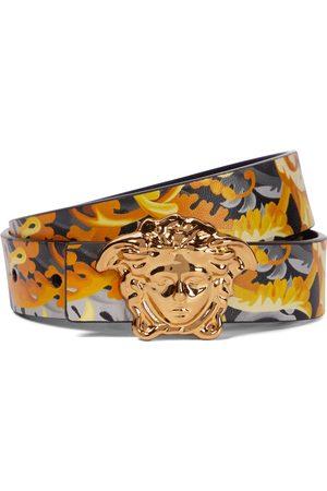 VERSACE Medusa reversible leather belt
