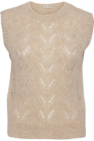 Gai & Lisva Ava Vests Knitted Vests Beige